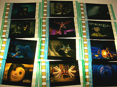 CORALINE Film Cell Lot of 12 - collectible compliments movie dvd poster