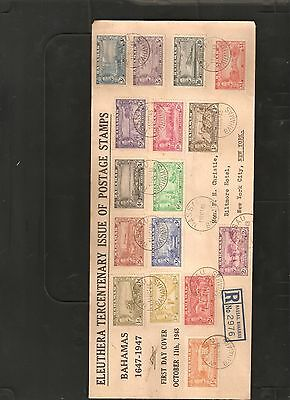 Bahamas 1948 Set to £1  First Day Cover