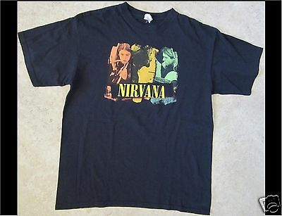 NIRVANA Size Large Black T-Shirt (A)