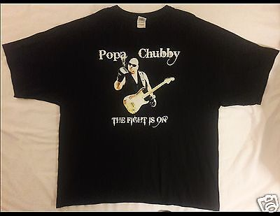 POPA CHUBBY The Fight Is On Tour 2010 Size 3XL Black T-Shirt