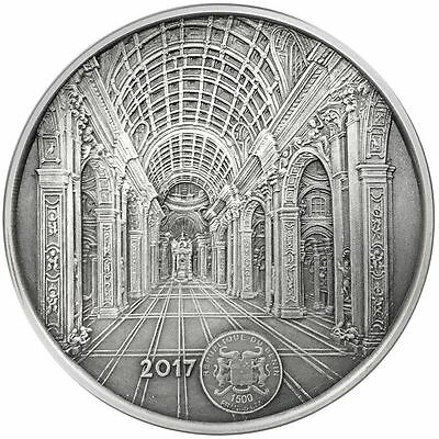 2017 Benin 100 Gram St. Peter's Basilica Mauquoy Mint High Relief Silver Coin