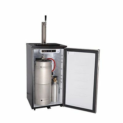 Stainless Steel Beer Tower with Faucet Craft Brew Kegerator Digital Thermostat