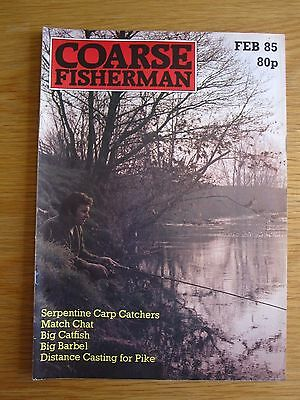 Coarse Fisherman magazine - February 1985 (The Serpentine Carp Catchers Catfish)