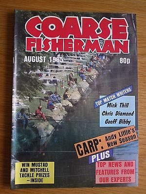 Coarse Fisherman magazine - August 1985 (Barrie Rickards, Andy Little, Carp etc)