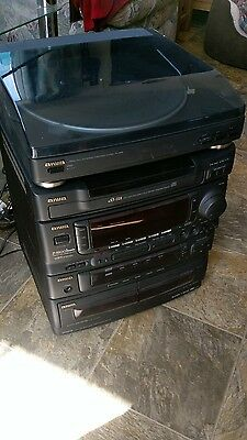 aiwa hifi system with turntable. sorry no speakers