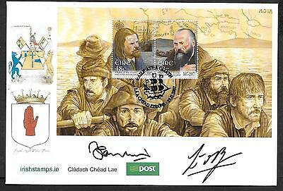 2007      FDC   FLIGHT OF THE EARLS  M/S Autographed       An Post