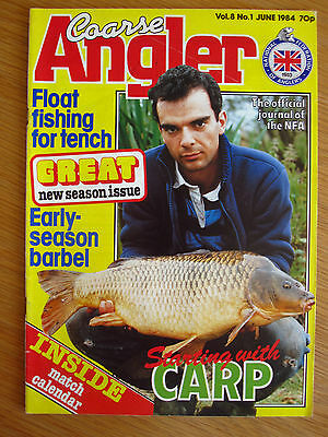 Coarse Angler magazine - June 1984 (Tench, Catfish, Barbel, Carp, Jan Porter)