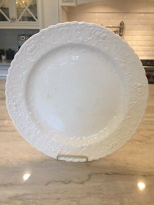 Antique ROSE POINT by STUEBENVILLE / POPE-GOSSER:  Lg ROUND PLATTER / CHOP PLATE