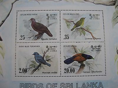 Sri Lanka: 1983 Birds Mini sheet UMM