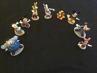 Disney Figurines Lot - Mickey Minnie Donald Pluto Goofy Black Bart Clarabell Cow