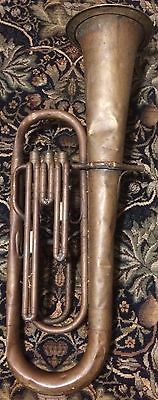 RARE Post-Civil War FOOTE Tuba Saxhorn w/Berliner Pumpen Valves for Project/Part