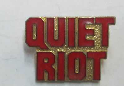Quiet Riot 5 Vintage Metal Lapel Pin New From Late 80's Heavy Metal Wow