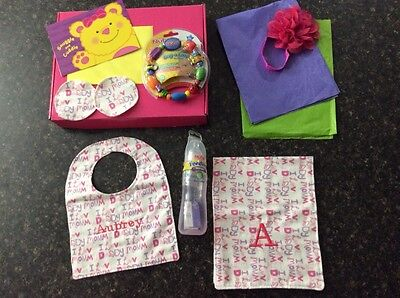 BABY personalized gift package for new baby girl