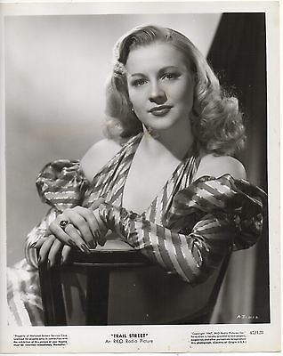 "ANNE JEFFREYS Vintage Original B&W 8x10 Photo 1947 ""Trail Street"""