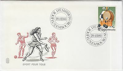 Tennis Bowling Soccer Luxembourg 1980 FDC Sport pour tous