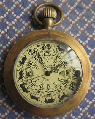 Collectablerare copper machinery watch,  work well Pocket watch