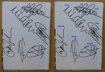 2003-04 Tottenham Hotspur Multi Signed Yearbook Cover - New Signings (10740)