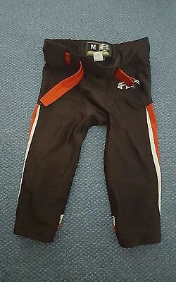 Adult Black and Red American Football Pants (S/M) padded