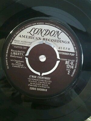 Eddie Cochran  ‎– C'mon Everybody - LONDON  RE-U 1214 - VINYL 45  EP