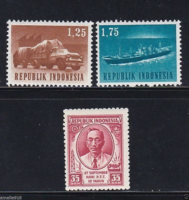 Indonesia stamps in 1950's. MNH
