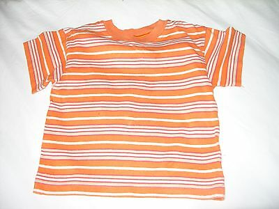 Marks and Spencers striped orange cotton t-shirt / top age 12-18 months, 83cm