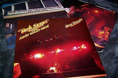 BOB SEGER AND THE SILVER BULLET BAND Nine Tonight DOUBLE LP Vinyl  Gatefold slee
