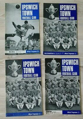 Ipswich Town Programmes x 4 from 1960's