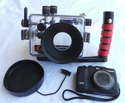 Canon Power Shot G15, accessories, Ikelite housing for CanonG15, a complete set
