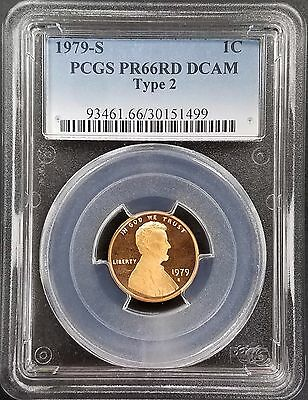 1979 S Type 2, Proof, Lincoln Cent certified PR 66 RD DCAM by PCGS!