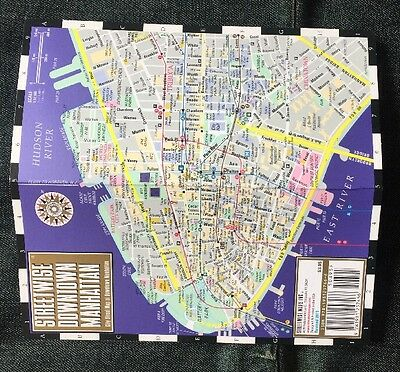 Streetwise Downtown Manhattan  Map - Laminated Map of NYC-NEW