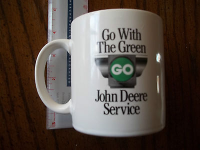 Vintage Go With The Green Service John Deere Model D 1924-1953 Coffee Mug Cup A