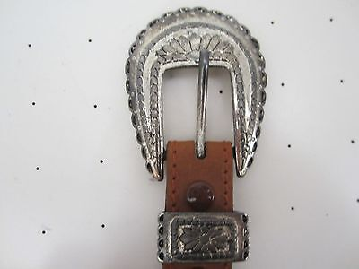 vintage STETSON  belt and buckle