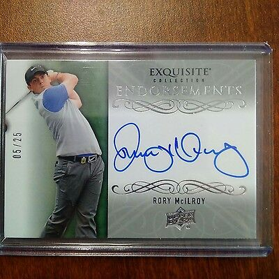 RORY McILROY 2014 UD GOLF EXQUISITE COLLECTION ENDORSEMENTS RC AUTO 05/25 RARE