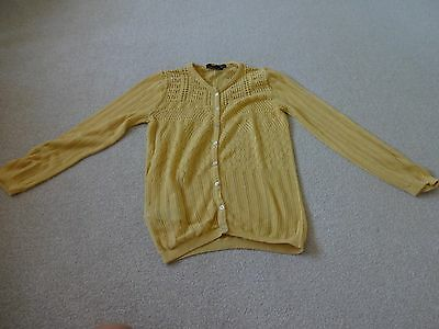 Mango ladies cardigan (size S) yellow