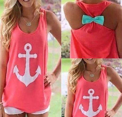 Fashion Womens Cute Summer Vest Top Sleeveless Blouse Casual Tank T-Shirt Tops
