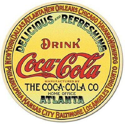 Coke Round  Keg Label  Coca-Cola  Miniature 3 Inch Diameter Sign Magnet