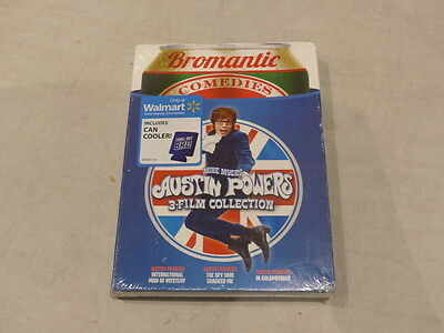 Austin Powers 3-Film Collection (Bromantic Comedies) Dvd With Can Cooler New
