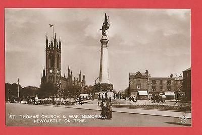 Old Postcard REAL PHOTO St Thomas Church Barras Bridge Newcastle  Northumberland