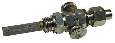 """Plated Push on, Pull-off Fuel Tap 1/4"""" x 1/8"""" BSP - Ethanol Resistant - WW73068N"""