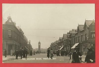 Old Postcard  STATION ROAD  Whitley Bay   Northumberland