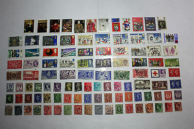 Lot of 100  Great Britain Postal  Postage Stamps   Collection   GREA010