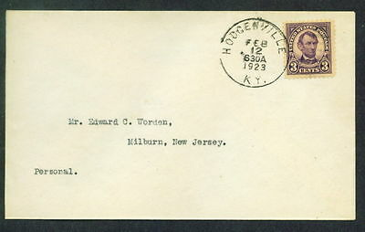 555 FDC ( 3c Perf 11 ) Hodgenville KY / KENTUCKY  - Rare WORDEN Cover - A BEAUTY