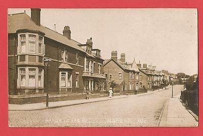 Old REAL PHOTO Postcard   MANOR HOUSE ROAD  JESMOND   Newcastle  Northumberland
