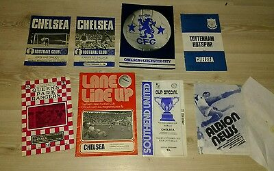 Chelsea Programmes x 8 from 1970,s