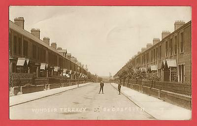 Old Postcard WINDSOR TERRACE  S. Gosforth Newcastle on Tyne  Northumberland 1912