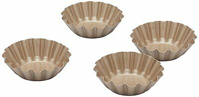 Paul Hollywood by KitchenCraft Non-Stick Mini Fluted Tart Tins, 6.5 cm - Set of
