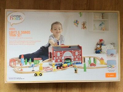 NEW IN BOX-UNOPENED  Wooden Lights and Sounds Train Set. Age 3+