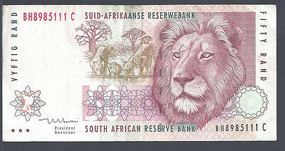 South Africa (5111C), 1999, 50 Rand, P125c (sign Mboweni) VF