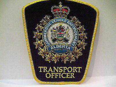 police patch  COMMERCIAL VEHICLE ENFORCEMENT TRANSPORT OFFICER  ALBERTA CANADA