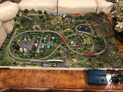 T Gauge Model Train Layout Complete With Trains And Accessories 2x3 Feet